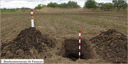 Arbeiten zu einem Bodenprofil